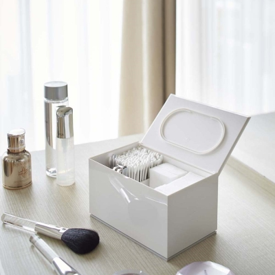 【YAMAZAKI】Veil生活小物分隔收納盒-白★飾品架/收納架/收納盒/急救箱