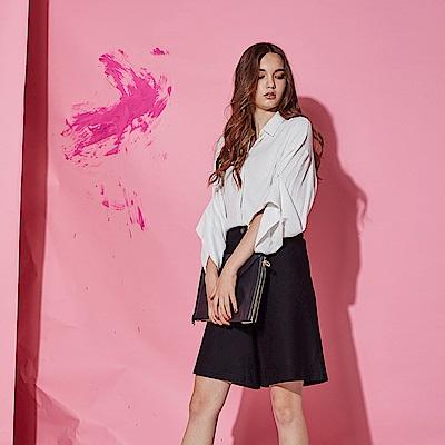 Chaber巧帛 時尚簡約OL必備造型百搭西裝寬褲裙-黑(兩色)