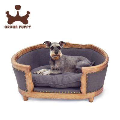 【CROWN PUPPY】歐式典雅手工雕木寵物床