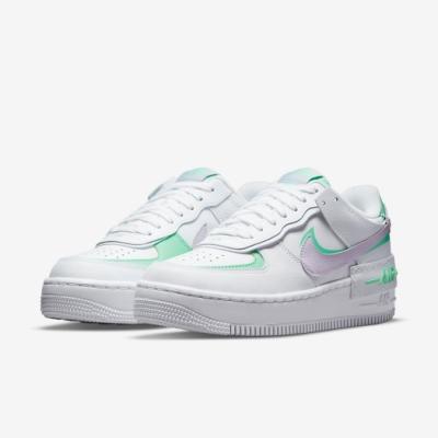 Nike 休閒鞋 AF1 Shadow 運動 女鞋 厚底 舒適 皮革 質感 球鞋 穿搭 白 粉紫 CU8591103