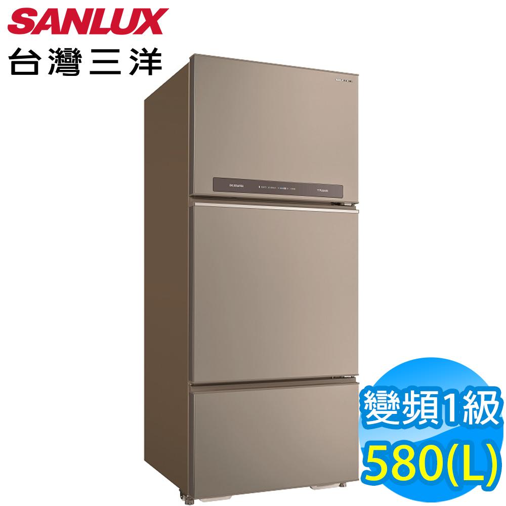 SANLUX台灣三洋 580L 1級變頻3門電冰箱 SR-C580CV1A