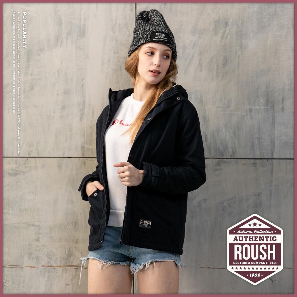 Roush 女生軍裝鋪棉連帽大衣2.0(3色)