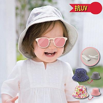 日本雜誌款-幼兒抗UV雙面漁夫帽