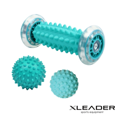 Leader X 美體紓壓 手足部滾輪筋膜球 按摩神器3件組