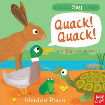 Can You Say It Too?Quack! Quack! 森林動物翻翻書(美國版)