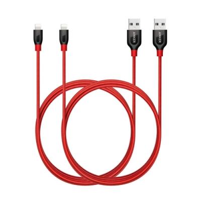 美國Anker傳輸充電線PowerLine+ lightning B8122091兩條紅色