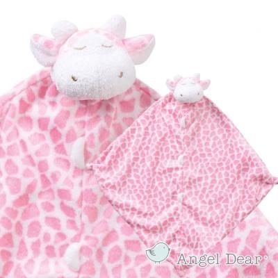 Angel Dear 動物嬰兒安撫巾 (粉紅長頸鹿)