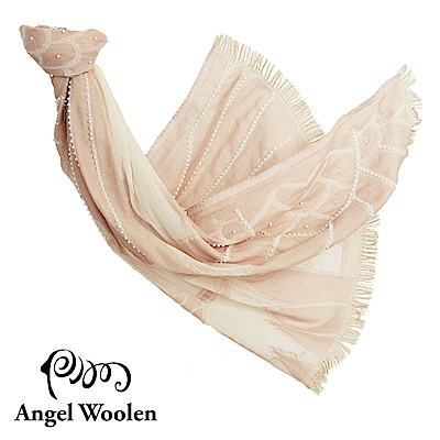 Angel Woolen霓裳-印度手工串珠羊毛披肩-裸裳