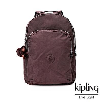 Kipling深紫羅蘭素面後背包(大)
