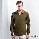 歐洲貴族 oillio 長袖毛衣 紳士立領 素面毛衣 綠色