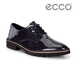 ECCO INCISE TAILORED 個性漆皮德比正裝鞋 女-藍