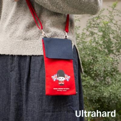 Ultrahard 月見兔斜揹手機包-小騎兵(紅藍)