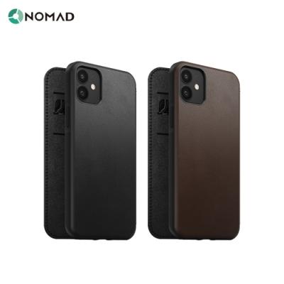 美國NOMAD經典皮革側掀保護套-iPhone 12/Pro (6.1 )-黑