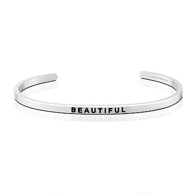 MANTRABAND Beautiful 成就專屬自己的美 銀色悄悄話手環