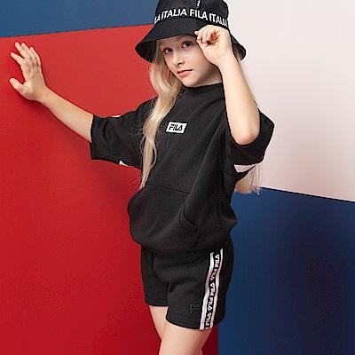 FILA KIDS #漢城企劃 童 針織上衣-黑 5TET-4415-BK