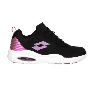 LOTTO 女輕氣墊跑鞋-避震 反光 輕量 慢跑 運動 LT0AWR2110 黑粉紫