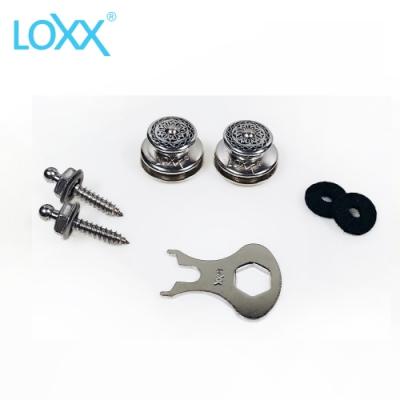 LOXX Strap Lock E-MARY 安全背帶扣 銀亮浮雕款