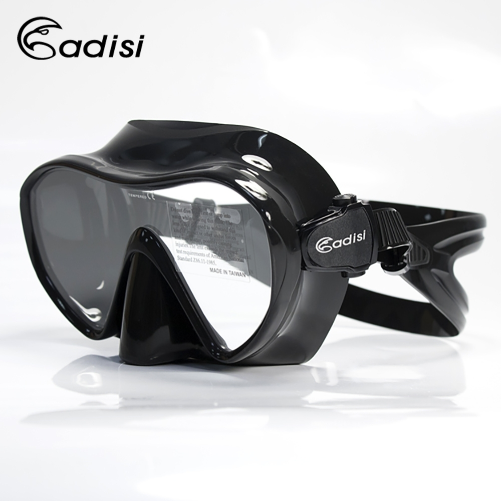 ADISI WM19 單面鏡 黑色(蛙鏡、浮潛、潛水、戲水、泳鏡、潛水面鏡)