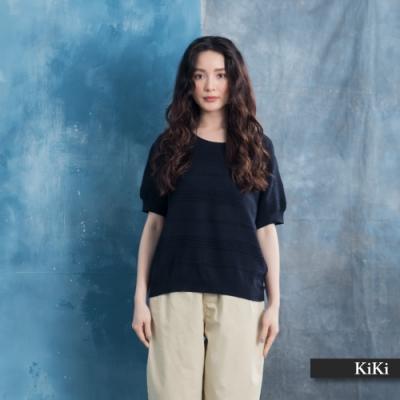 【KiKi】休閒舒適透氣-針織衫(三色/版型休閒)