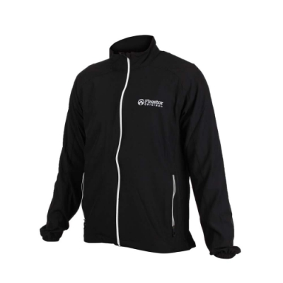 FIRESTAR 男彈力機能外套-慢跑 路跑 健身 訓練 立領外套 黑銀