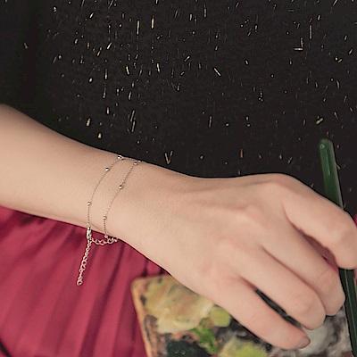 簡約層次優雅珠飾手鍊-OB大尺碼