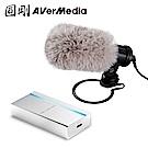 AVerMedia 圓剛 專業攝影直播套組-影像擷取器 BU110+收音麥克風 AM133