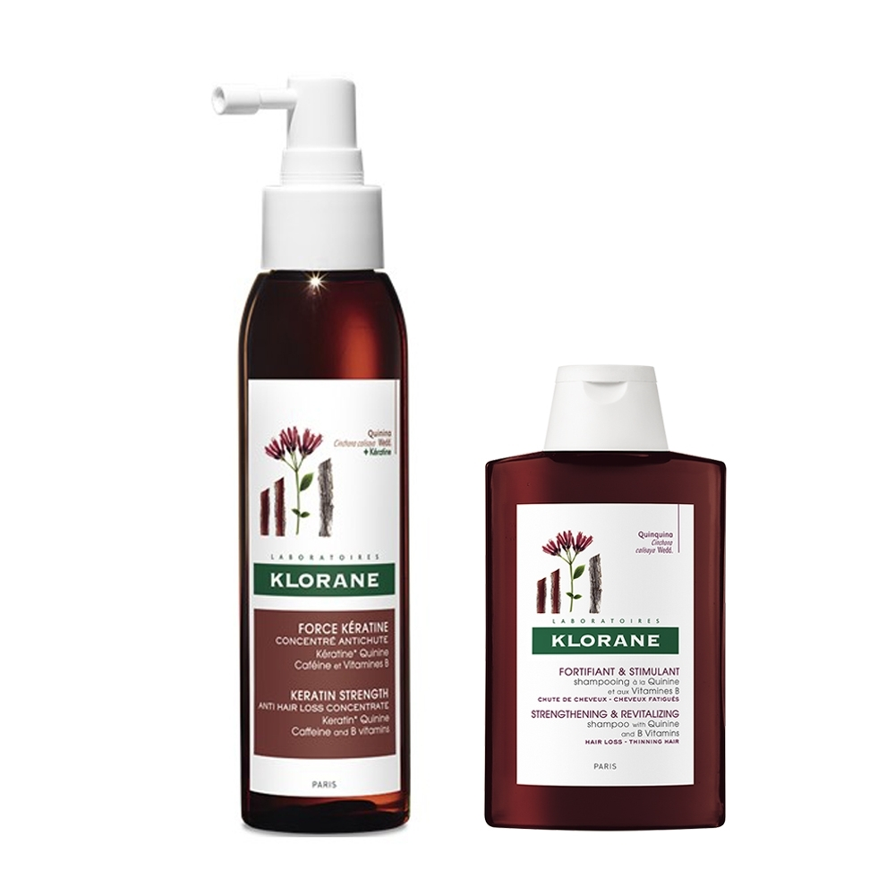 KLORANE蔻蘿蘭 角蛋白植萃養髮精華液特惠組