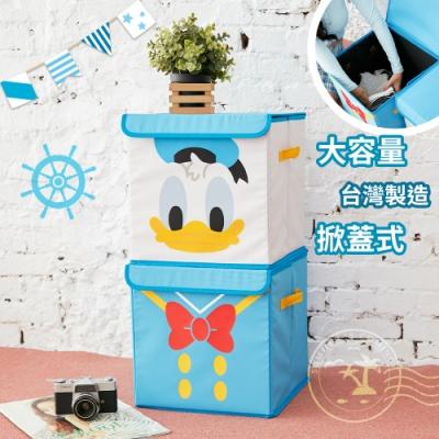 【收納皇后】迪士尼唐老鴨方形摺疊收納箱正版授權 衣物整理箱 換季收納 收納盒 置物箱 收納櫃