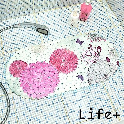 Life Plus 歐風吸盤式防滑地墊 (繡球花)