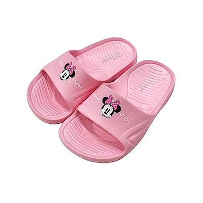 迪士尼童鞋 米妮 復古防水拖鞋-粉