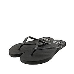 GAP 夏日必備經典LOGO印刷人字拖鞋(女)-黑色