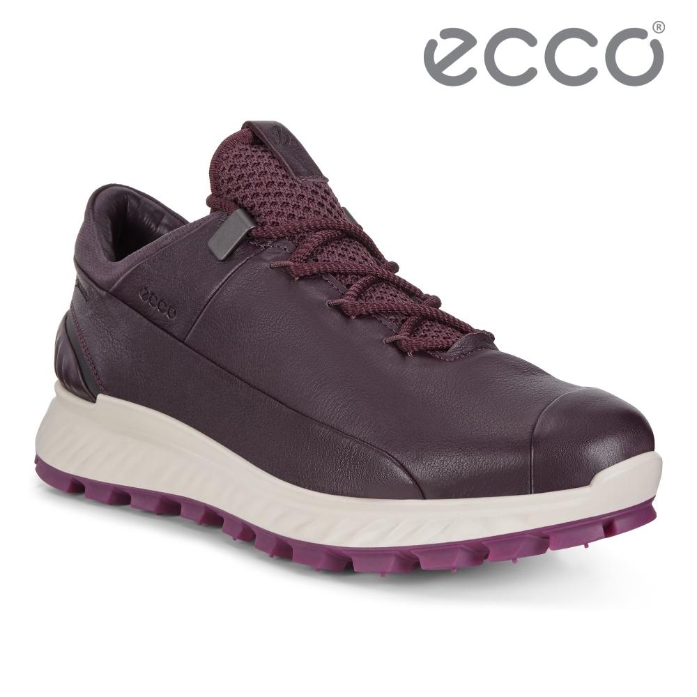 ECCO EXOSTRIKE 突破極限低筒運動戶外靴 女-霧紅色