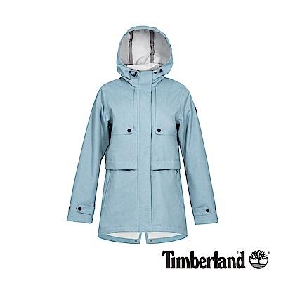 Timberland 女款淺藍色連帽防水科技戶外外套|B3106
