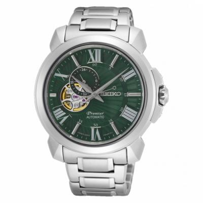 SEIKO Premier 羅馬鏤空設計機械時尚腕錶4R39-00S0G(SSA419J1)