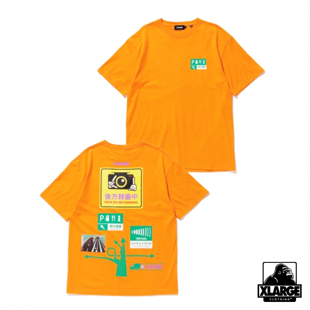 XLARGE S/S TEE SAFETY DRIVE短袖T恤-橘