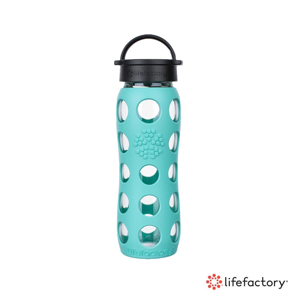 lifefactory 玻璃水瓶平口650ml-薄荷綠(CLA-650-MNB)