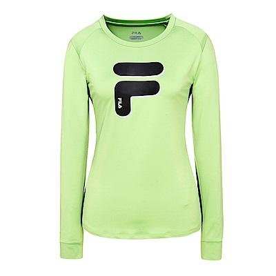 FILA 女抗UV吸濕排汗T恤-果綠 5TES-5311-LN