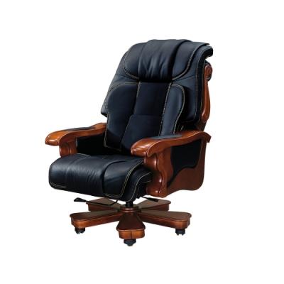 柏蒂家居-比利高級半牛皮主管椅/辦公椅-86x59x130~134cm