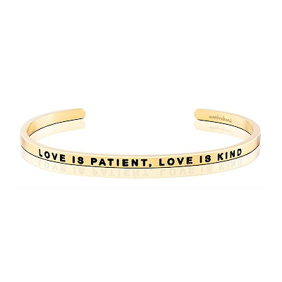 MANTRABAND Love Is Patient,Love Is Kind 金色手環