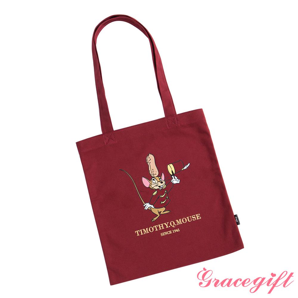 Disney collection by gracegift-提姆圖案帆布袋 紅
