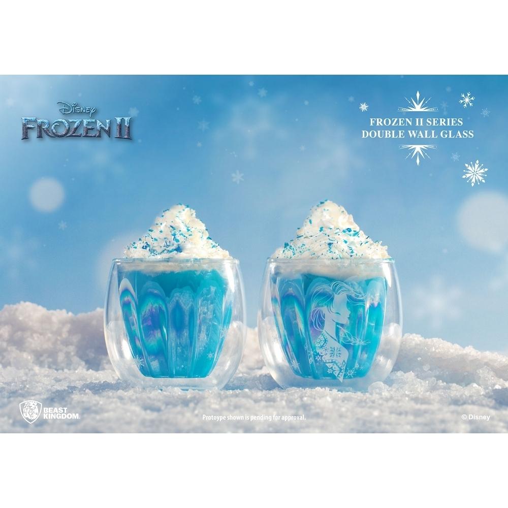 野獸國 迪士尼 冰雪奇緣2系列 雙層玻璃杯 艾莎款