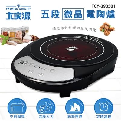 大家源按鍵式五段微晶電陶爐 TCY-390501