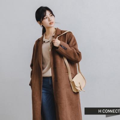 H:CONNECT 韓國品牌 女裝 -翻領俐落剪裁手工大衣