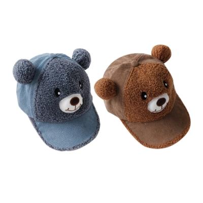 Baby童衣 兒童小熊棒球帽 帽子 鴨舌帽 韓國燈芯絨帽子 88236