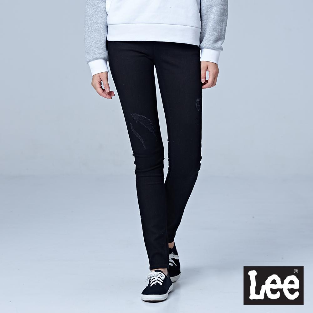 Lee 400 中腰貼身窄管牛仔褲/BO-深藍