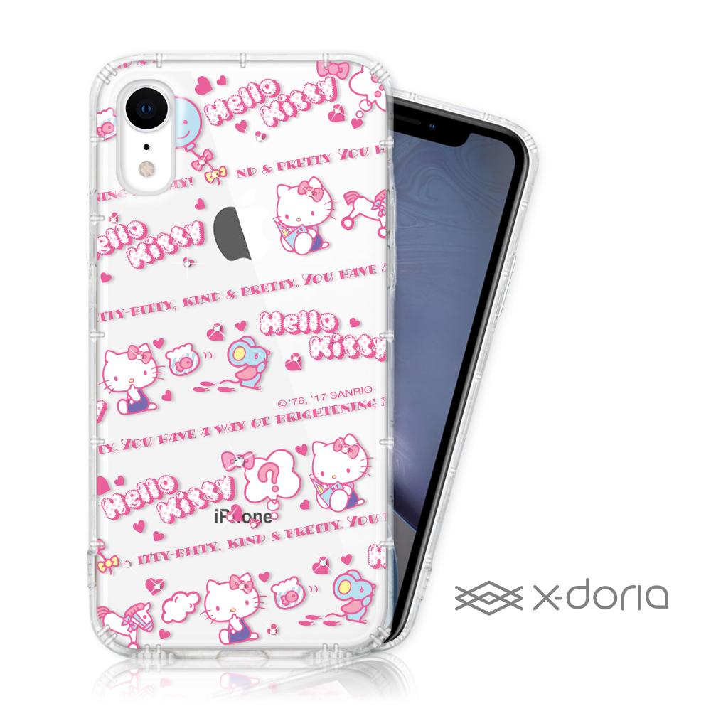 Hello Kitty iPhone XR 彩繪水鑽手機空壓殼 - 天真