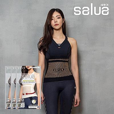韓國 salua 專利鍺元素護腰束腹帶 全新升級版 韓國原裝進口 (超值三件組)