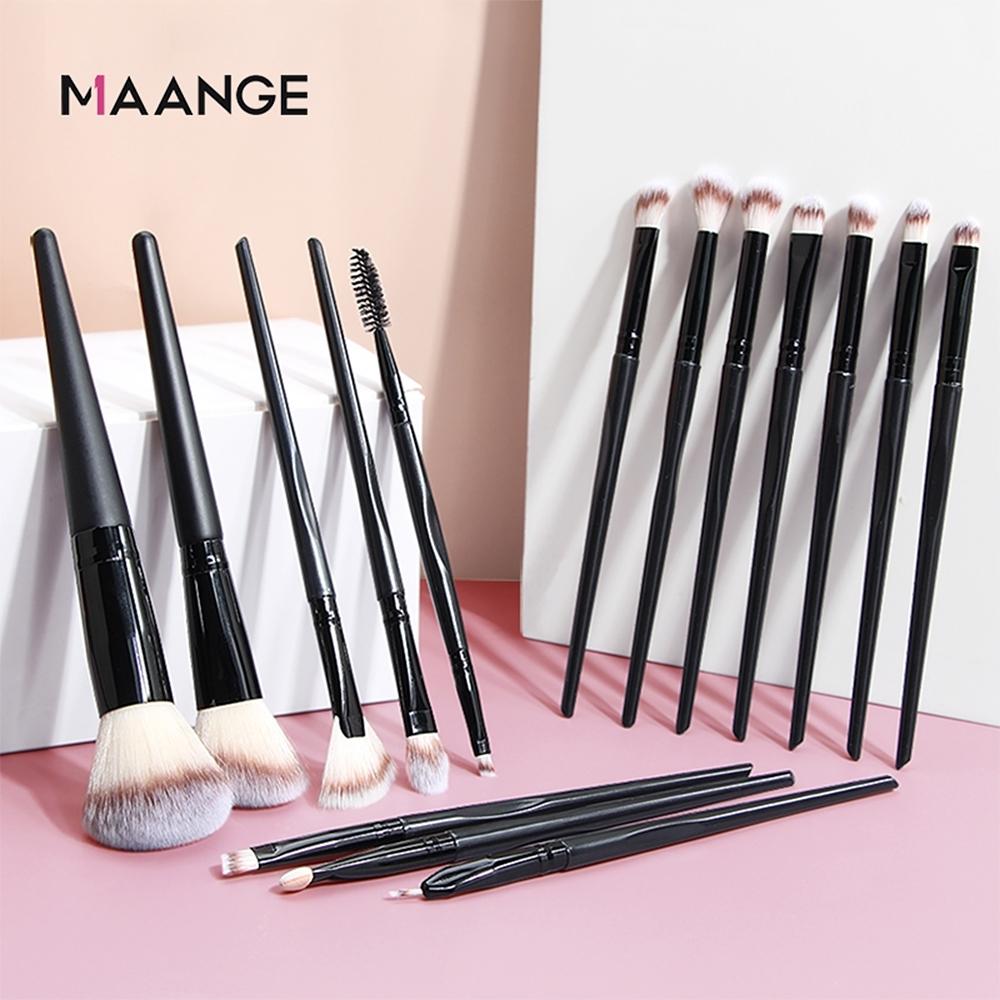 MAANGE 專業化妝刷具套裝 彩妝化妝刷具15件組 美妝工具