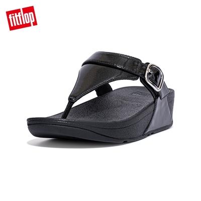 FitFlop LULU GLITTER ADJUSTABLE TOE-POST SANDALS 可調整式夾腳涼鞋-女(靓黑色)