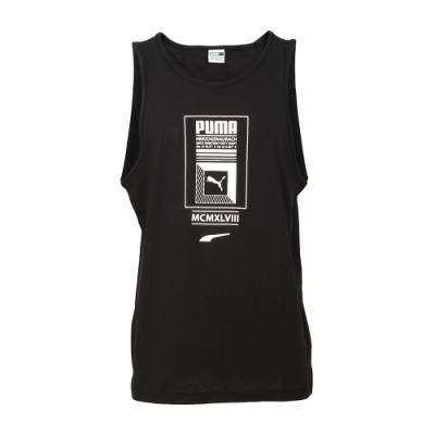 PUMA-男性流行系列Logo Tower休閒背心-黑色-歐規